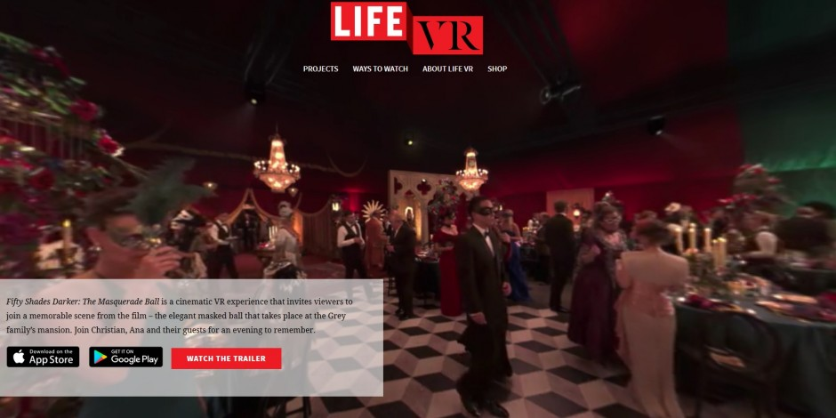 Fifty Shades fans have a ball with virtual reality experience