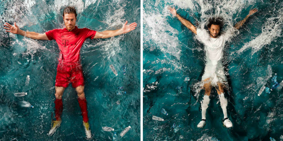 Adidas creates new Real Madrid and FC Bayern Munich kits from recycled ocean plastic as part of eco-innovation drive