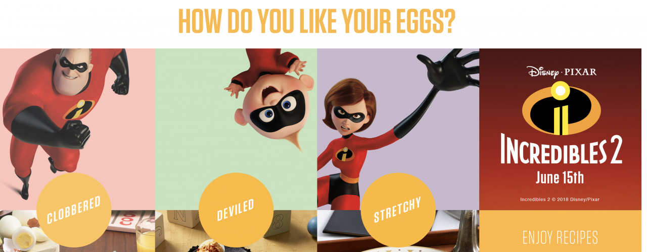 Incredibles 2 promo for American Egg Board features how the animated stars enjoy their eggs | The Drum