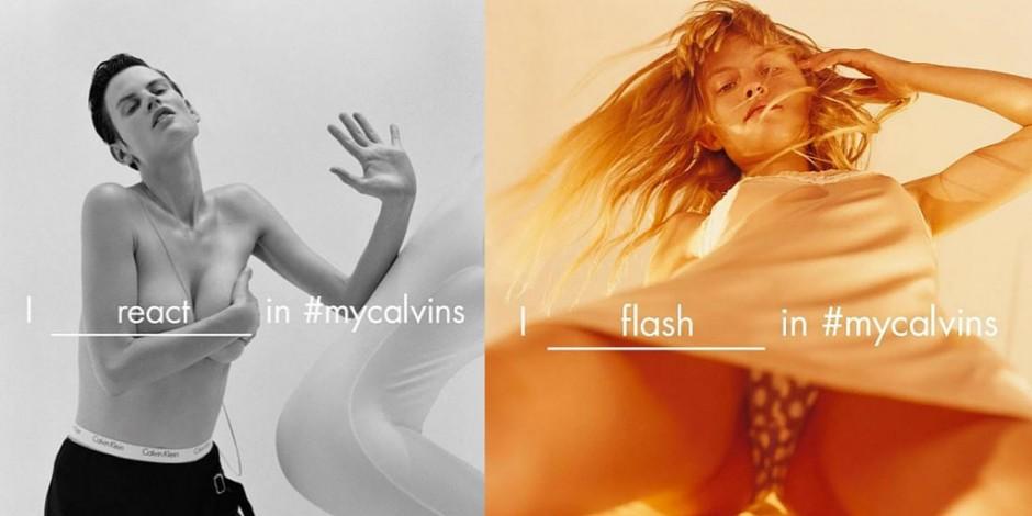 Calvin Klein Mocks Its Upskirt Social Media Backlash On