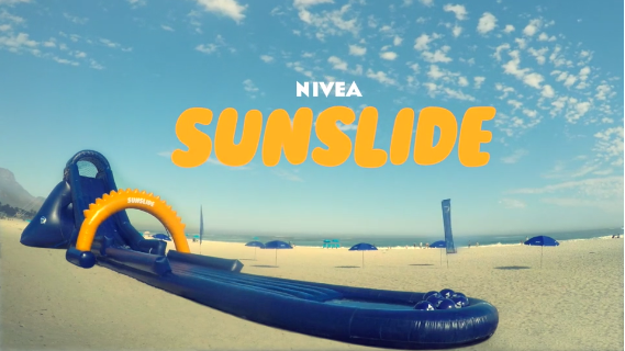 Nivea unveils the SunSlide: A water slide that applies suncream