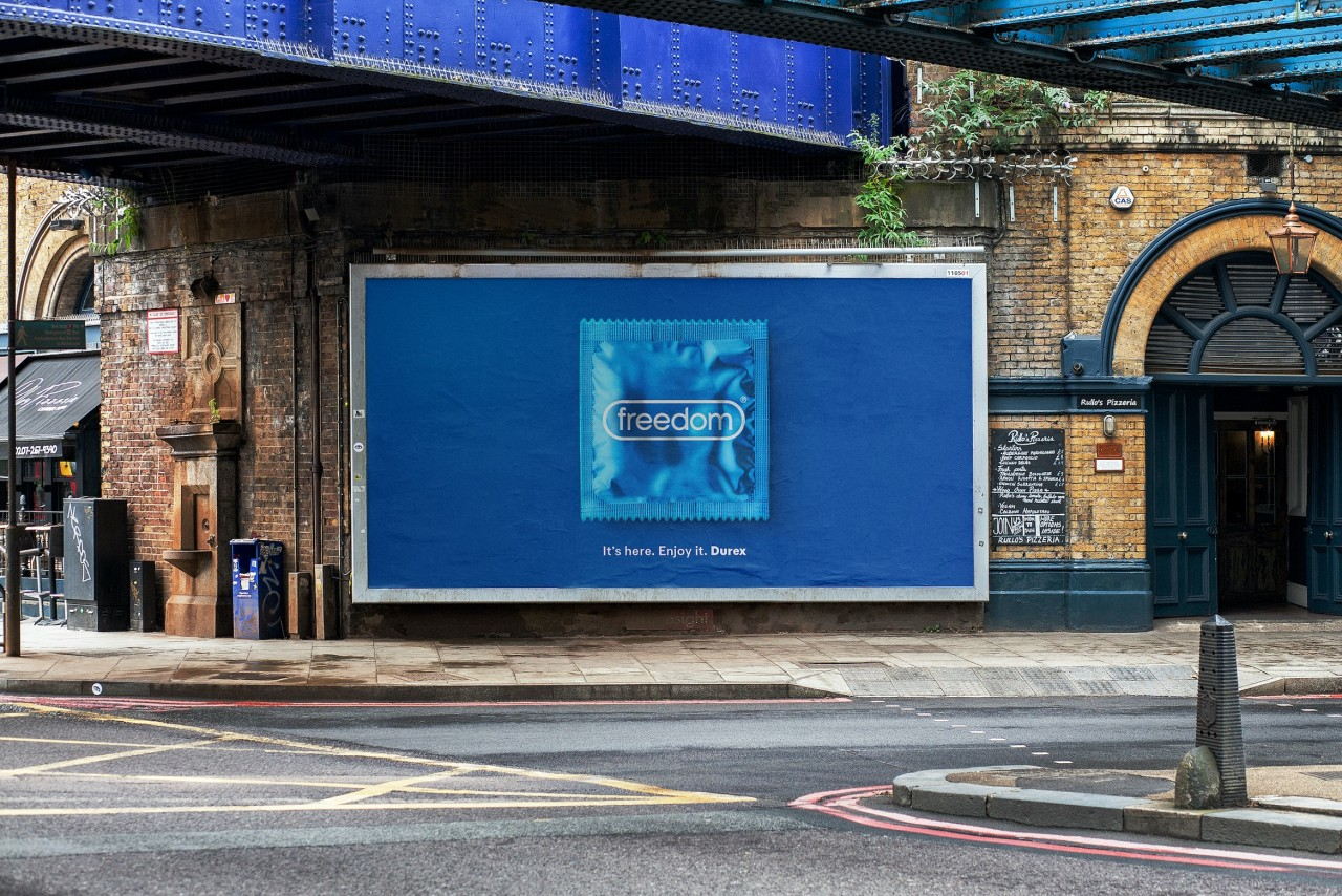 Durex billboard campaign encourages people to stay safe after 'Freedom Day'