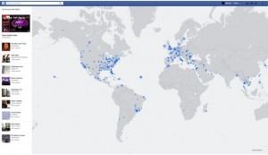 Facebook introduces interactive live video map the drum a clickable screen allows browsers to choose from a live ranking of the most highly rated feeds on a left hand column or travel the planet by clicking on a gumiabroncs Image collections