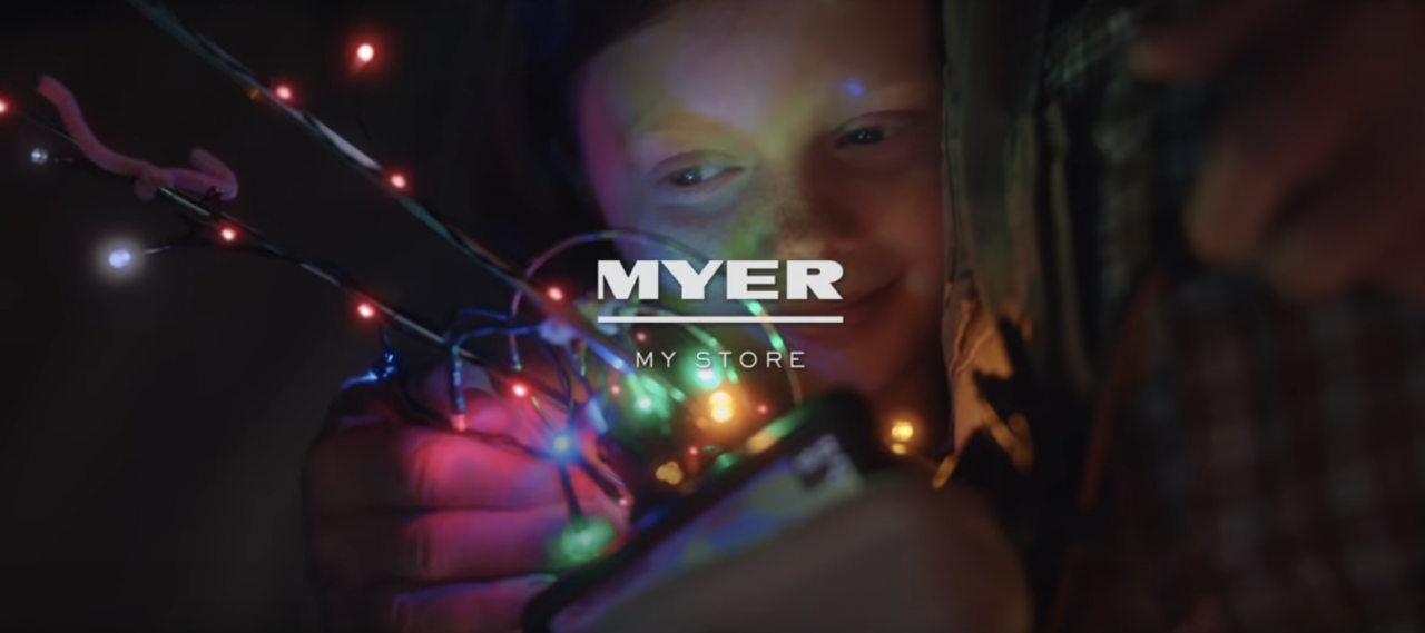 Myer launches interactive stocking to play on Australia's distance from the North Pole