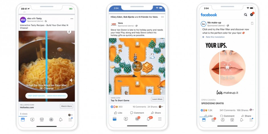 Facebook touts 'playful' commercial offering as it rolls out playable and AR ads