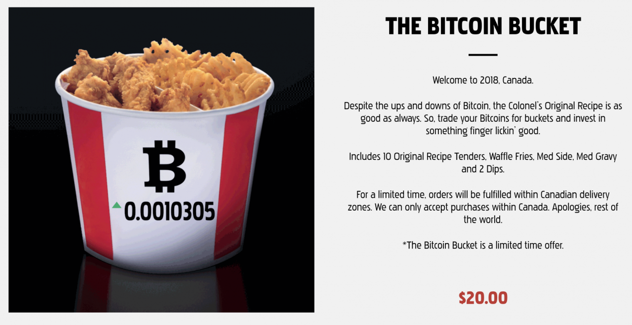 KFC asks Canadians to trade in Bitcoins for buckets of chicken | The ...