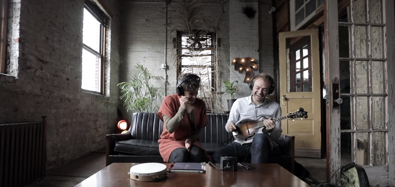 Chris Thile and Merrill Garbus write a song for Spire Studio