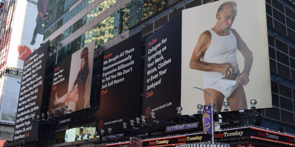 Dollar Shave Club takes over Times Square with diverse group of billboard stars