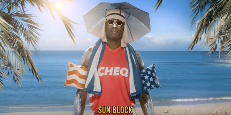 Ads We Like: Dikembe Mutombo stars as Cheq's 'chief blocking officer'