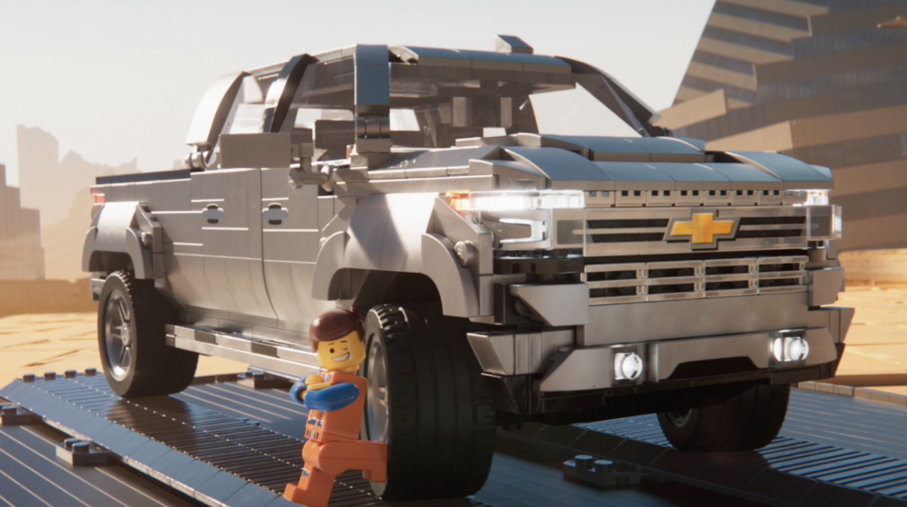 Ads We Like Lego Movie 2 Ties In With Chevy Silverado In Wacky Chase Scene Promo The Drum