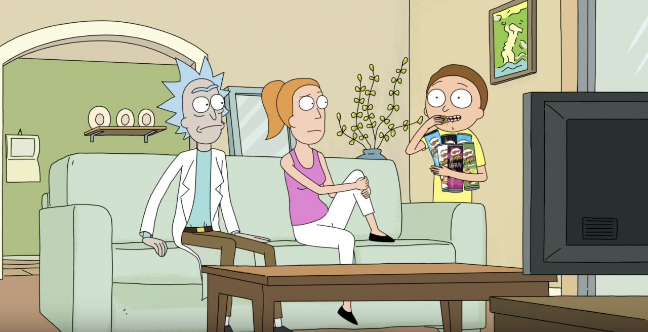 How Pringles trapped Rick and Morty in a Super Bowl ad