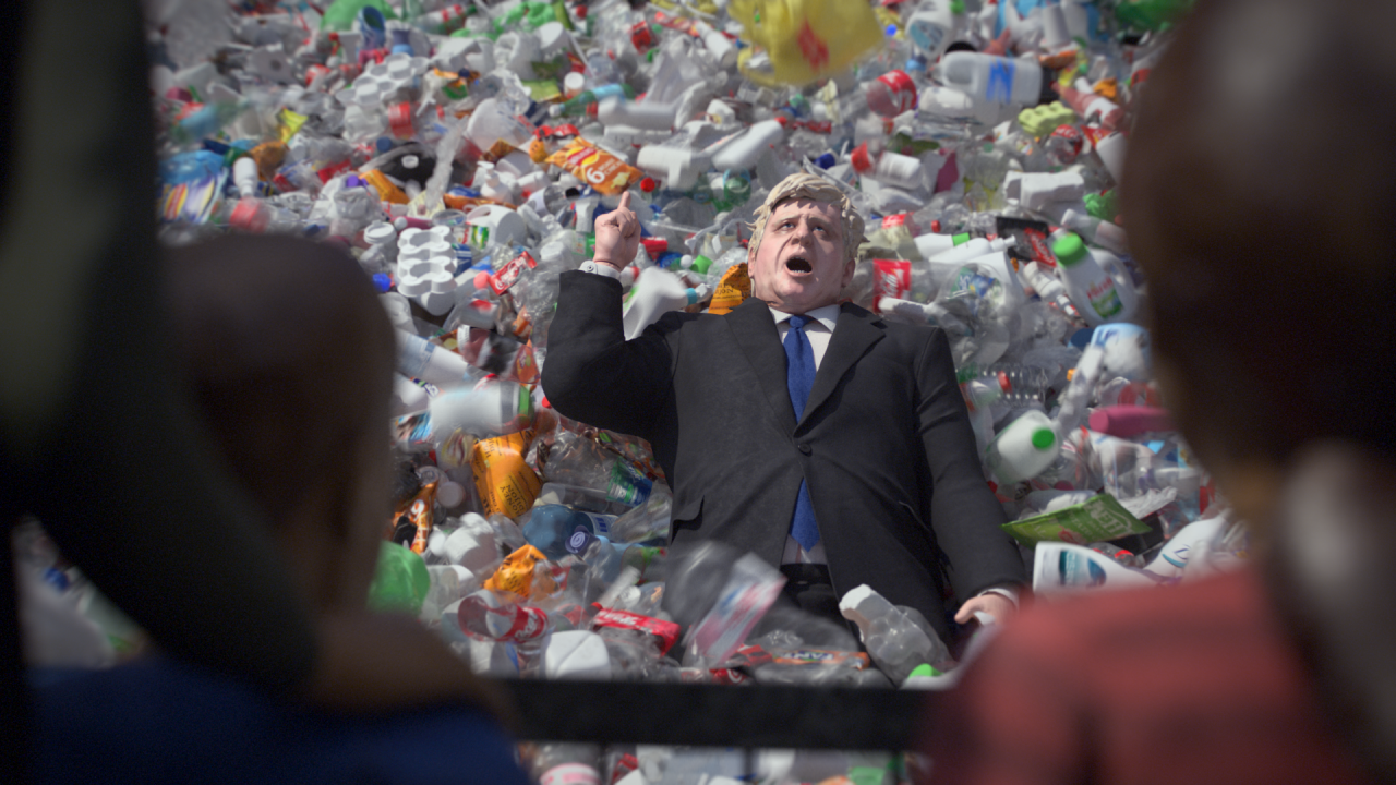 How Greenpeace trashed UK gov's plastic export scam with 'Wasteminster'