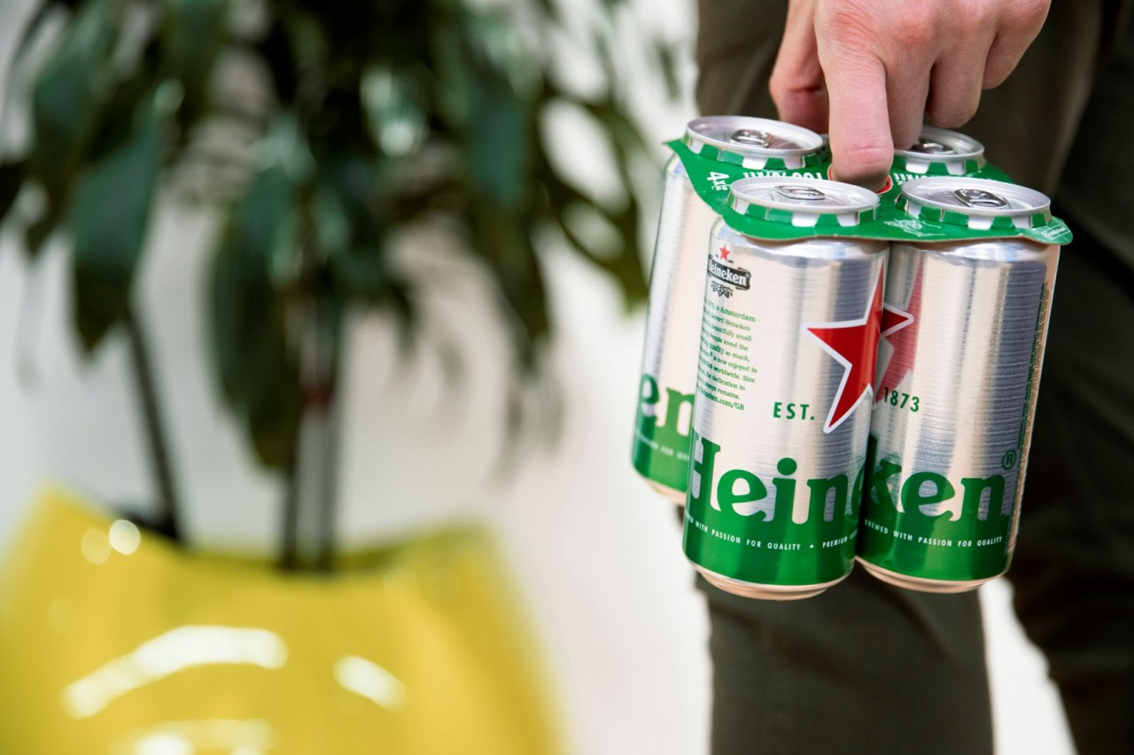 Heineken ditches plastic toppers for cardboard, full portfolio to follow in 2020