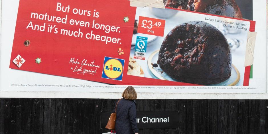 Lidl  hijacks  billboards of Christmas retail rivals Waitrose and ... 6bc2317208